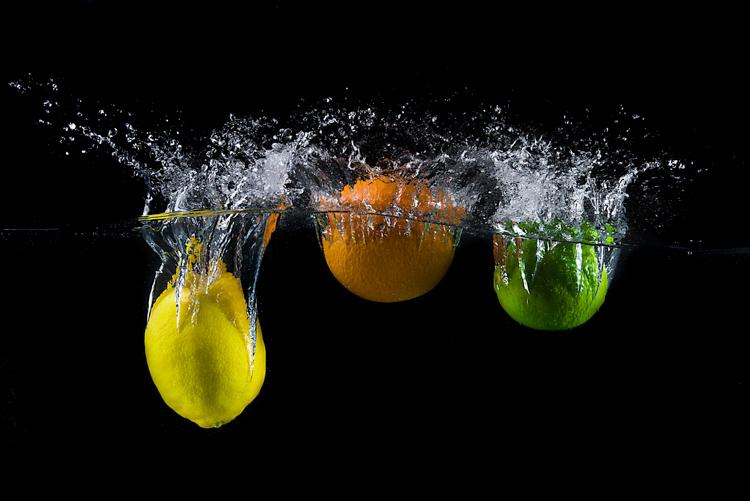 Water Splash Photography Made Easy lemon, orange, and lime water splash