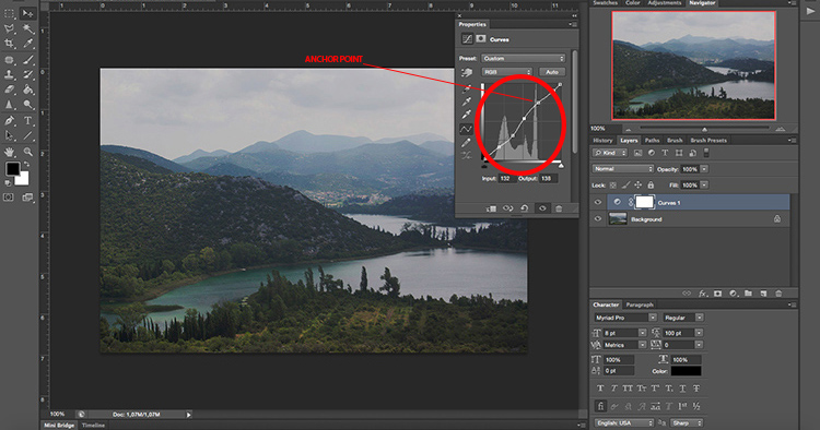 Curves Anchors - How to Take Control of Contrast Using Curves and Levels in Photoshop