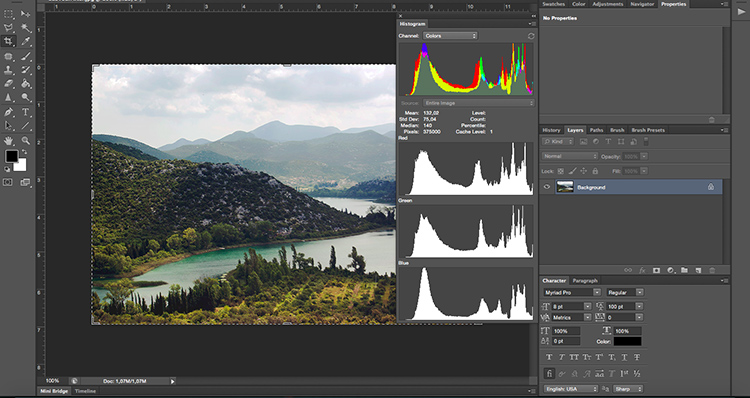 Histogram After - How to Take Control of Contrast Using Curves and Levels in Photoshop