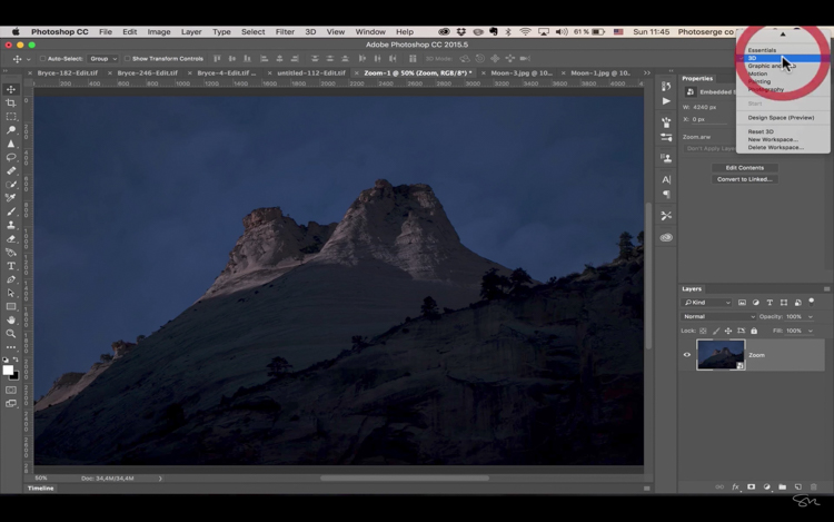 Add moon photoshop 06