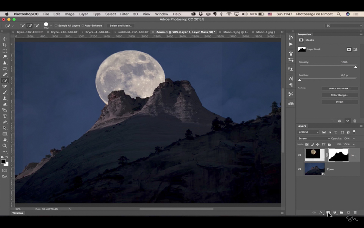 Add moon photoshop 15