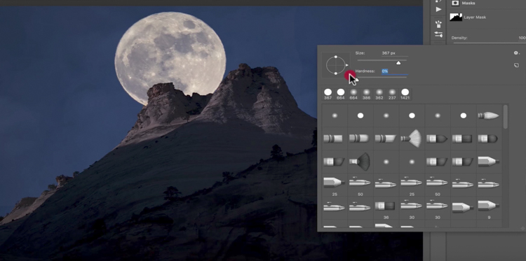 Add moon photoshop 18