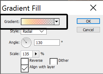Image: Click on the color part, not the down arrow.