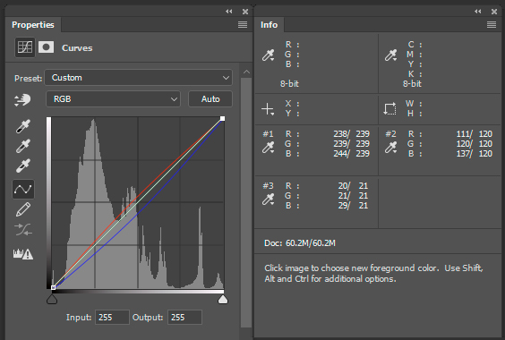 color correction curves info palette - How to do Color Correction Using the Photoshop Curves Tool