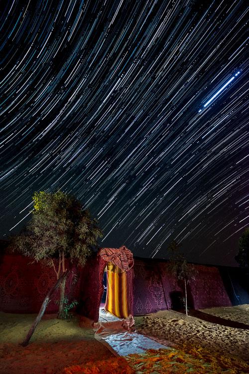 fotografia de trilha de estrelas