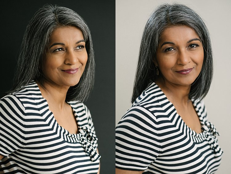 Image: Comparison: natural light on left, flash on the right.