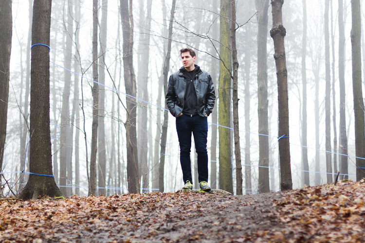A portrait of a man in the woods - How to Break the Rules with a central composition