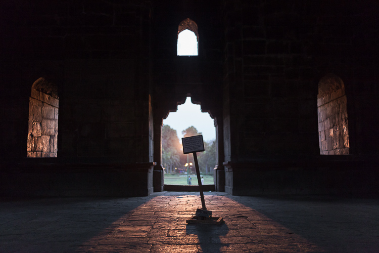 Image: Inside a 500-year-old tomb at Lodi Gardens – New Delhi, India. Spot Metering mode is glorious...