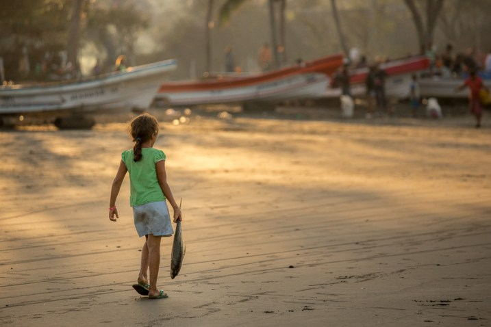 Image: Sunrise in the beach in a fishing village in Nicaragua. I used the soft warm light to show th...