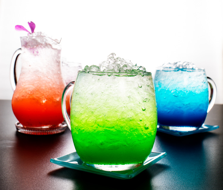 How to Backlight Translucent Objects for Dramatic Effect - colorful drinks