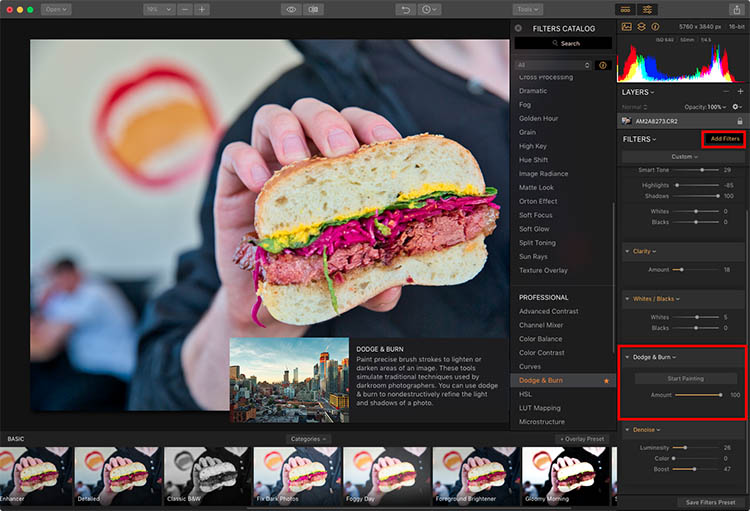Luminar Add Filters - How to Make Food Photos Look Tastier with Luminar