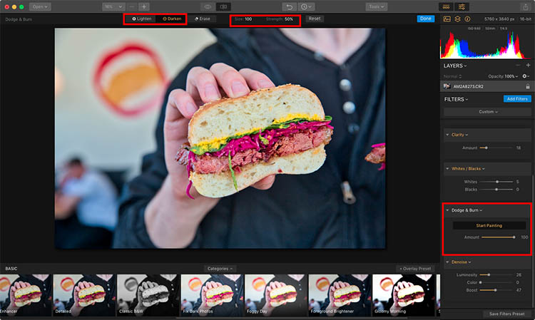 Luminar Dodge and Burn - How to Make Food Photos Look Tastier with Luminar