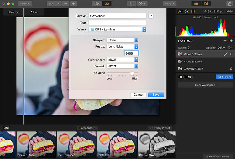 Luminar Save - How to Make Food Photos Look Tastier with Luminar
