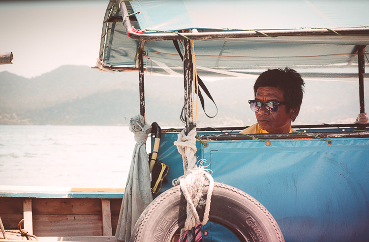 4 Thailand Boat Man Before - How to Know What to do and Where to Start with Photo Editing in Photoshop