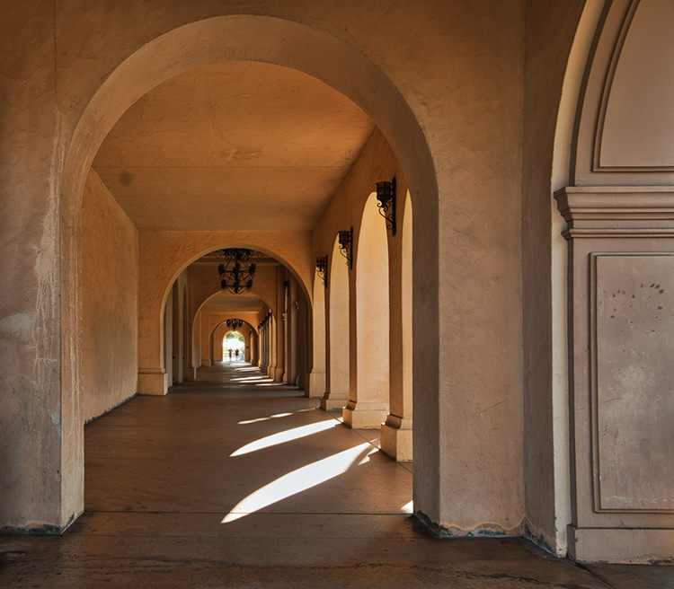 Balboa Park Corridor After Luminar 2018 RAW Develop