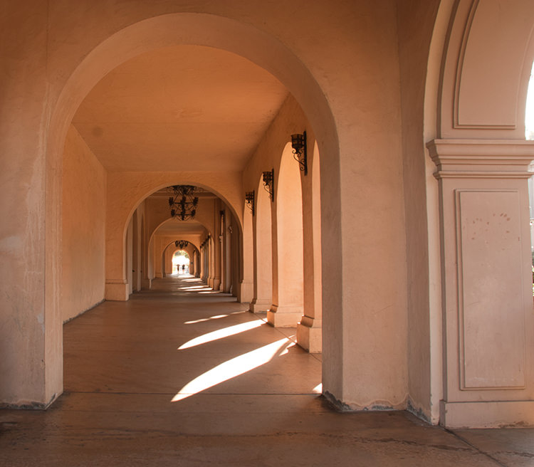 Balboa Park Corridor Before Luminar 2018 RAW Develop