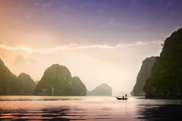 Fishermen in Halong Bay - Putting the Fine Art into Travel Photography