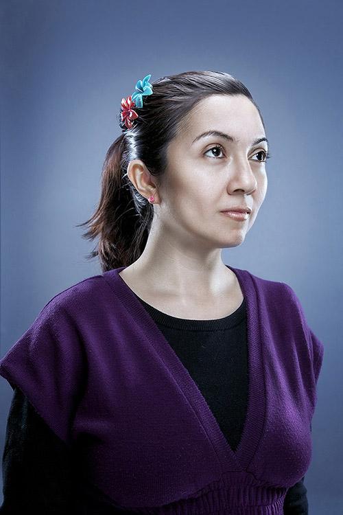 creative portrait of a woman
