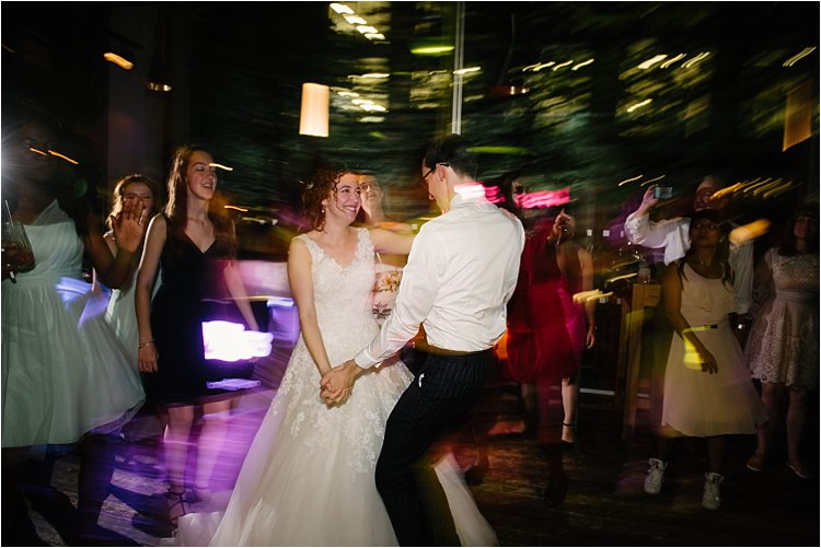 Image: This image was created with adiffused flash pointed directly at the couple (camera in front...