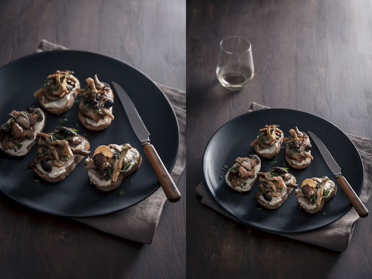 Mushroom Toast - Five Essentials of Doing Dark Food Photography