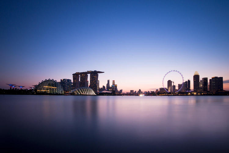Singapore - How to Find the Best Possible Time to Shoot Cityscapes at Blue Hour