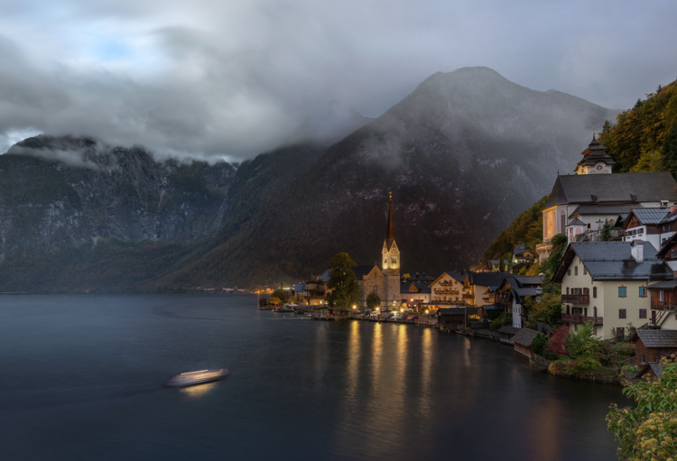 Austria Hallstatt Day To Night