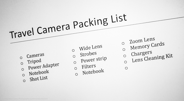 Tips for Making Your Travel Photography Packing List for International Trips