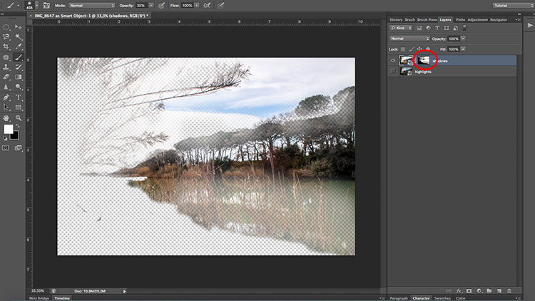 Layer Mask - How to Create with a Good Workflow Using Smart Objects in Photoshop