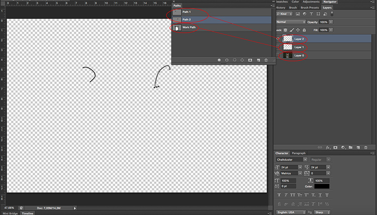 Layers and Paths - How to Turn Your Photo into a Cartoon Drawing Using Photoshop