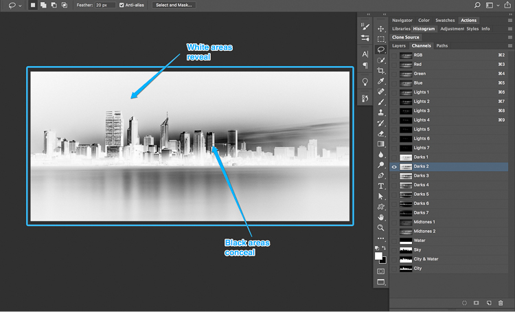 19 1 How to split tone black and white images using luminosity masks