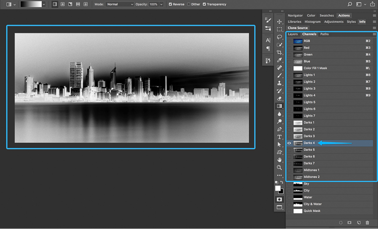 19 2 How to split tone black and white images using luminosity masks