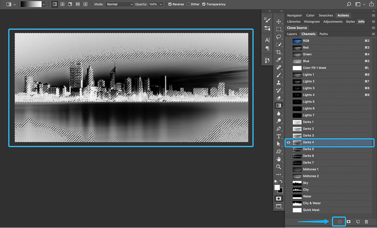 20 How to split tone black and white images using luminosity masks