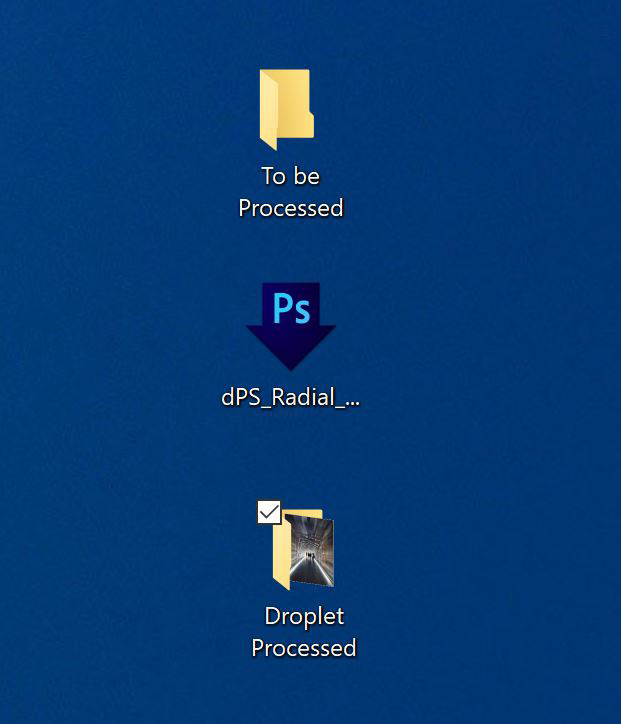 Source folder, Droplet and destination folder
