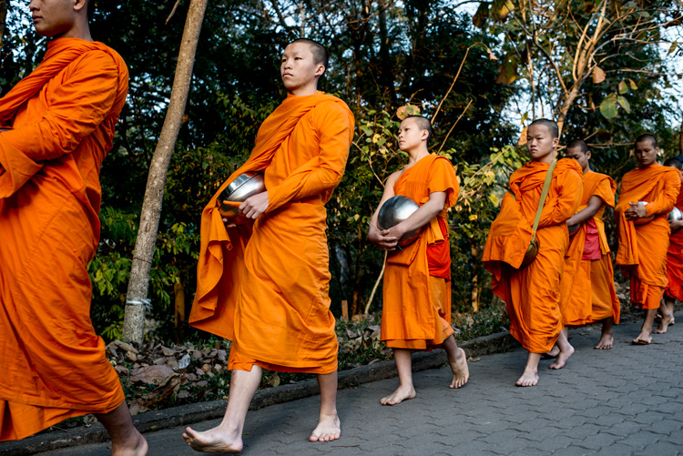 Buddhist monks walking in the morning, Tips for Learning How to See the Light and Take Better Photos