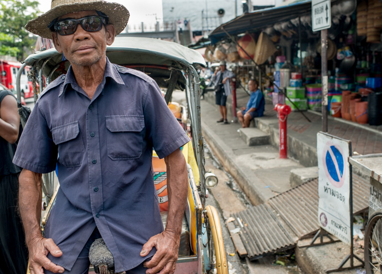 Tricycle Taxi Rider in Chiang Mai, Tips for Learning How to See the Light and Take Better Photos