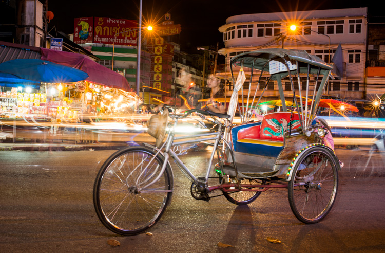 Street scene at night in Thailand - ISO