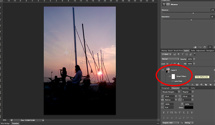 Photoshop Lens Flare Smart Filter Tutorial