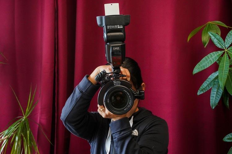 Camera flash bracket