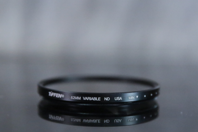 Review of the Tiffen Variable Neutral Density Filter - filter on a table