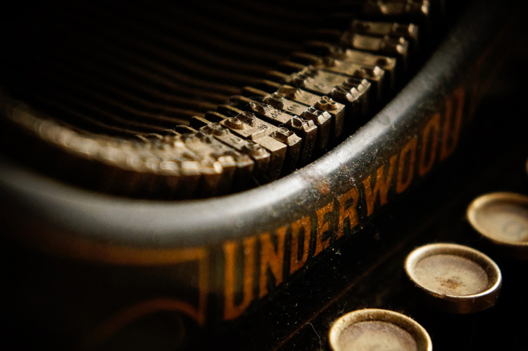 Image: An old typewriter makes a great subject. Simplify your composition for maximum impact.