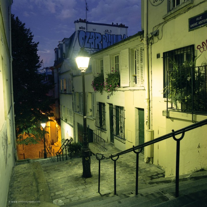How to overcome your technical or artistic shortcomings and improve your photography - night shot of Paris
