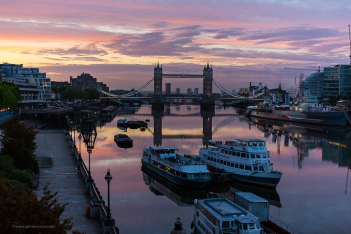 London at sunset - How to overcome your technical or artistic shortcomings and improve your photography