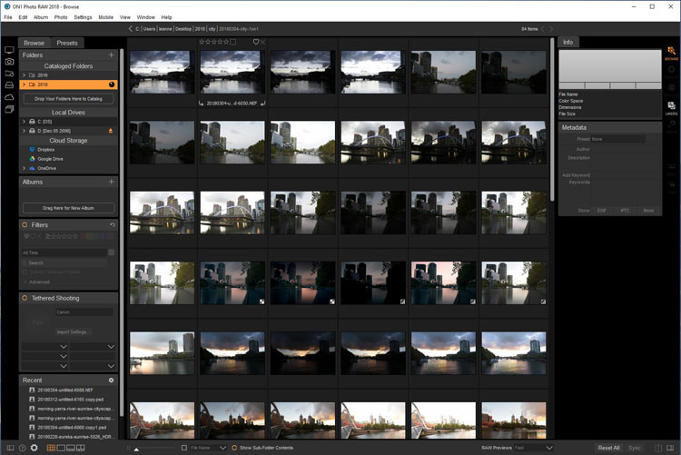 Software Review - ON1 Photo RAW 2018.1 - browse