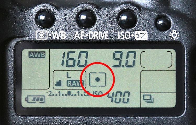 Image: Spot Metering mode.
