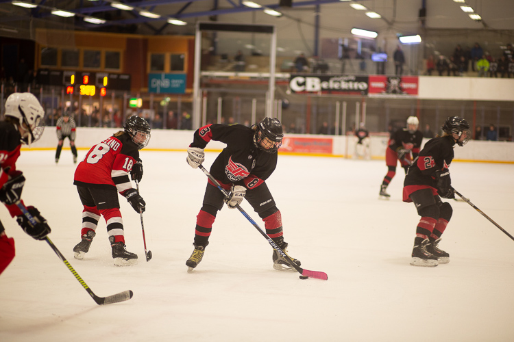A hockey image with a poor white balance setting - Tips for Editing Hockey Photos in Lightroom