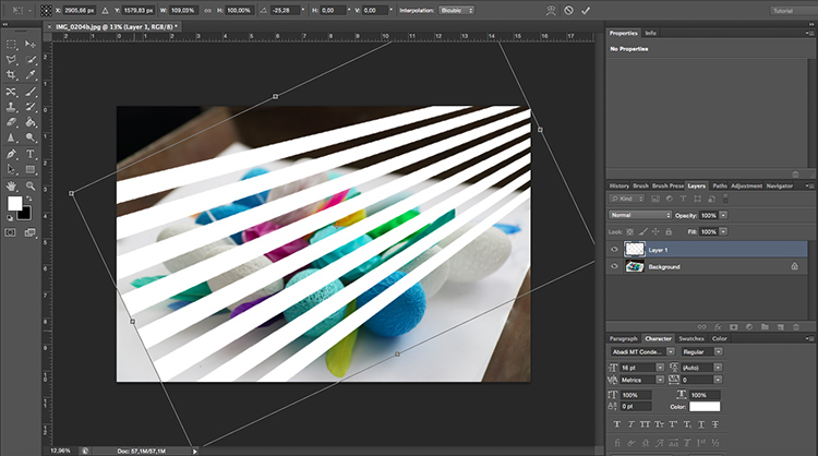 Free Transform Venetian Blinds Through Window Light Photoshop Tutorial jpg