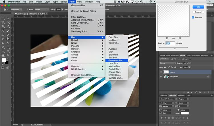 Gaussian Blur Venetian Blinds Through Window Light Photoshop Tutorial jpg