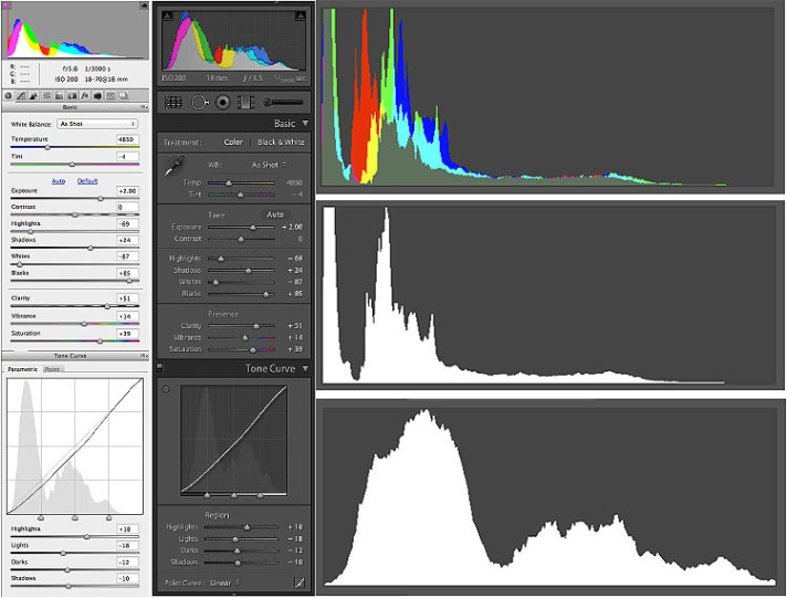 Raw Controls Histograms - Your Camera Sees Differently Than Your Eyes