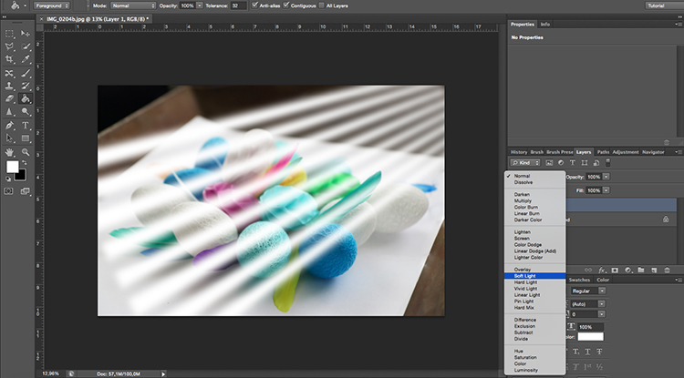SoftLigh Blend Mode Venetian Blinds Through Window Light Photoshop Tutorial