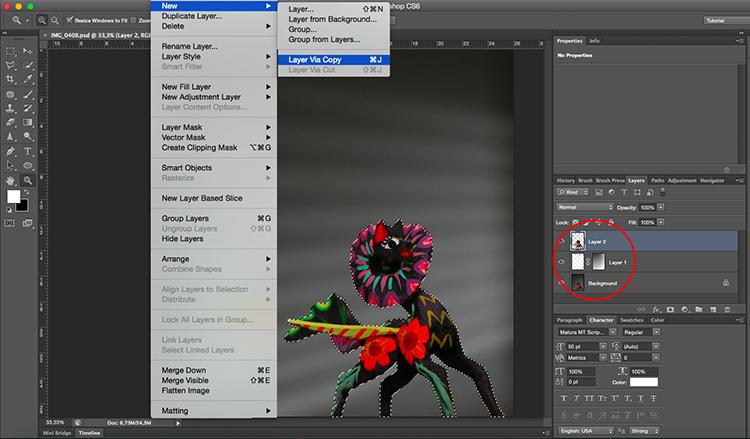 Venetian Blinds Lighting Effect Photoshop Tutorial Duplicate Layer